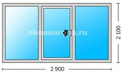 Двери раздвижные в алюминиевом профиле