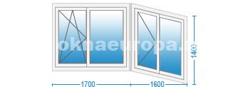 Г-образная форма балкона