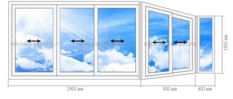 Остекление п-44: окна, балконы, лоджии.